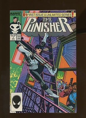 Punisher 1 VF 7.5 *1 Book Lot* 1st on-Going Punisher! Mike Baron! Klaus Janson!