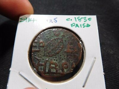 INV #M25 India Sikh Empire c.1830 Paisa KM-7.1