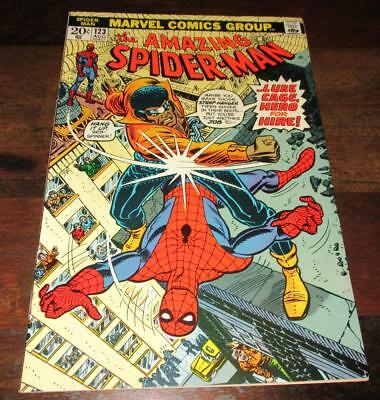 Amazing Spider-Man #123 1973 Luke Cage Power Man Nice Vf/near Mint Comic!!!