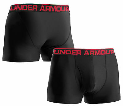 "New Under Armour Men's Original Series 3"" Boxerjock Underwear Black MD 1230363"