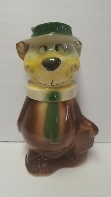 Vintage 1960s Yogi Bear Cookie Jar No Tongue  Version Hanna Barbera Ceramic