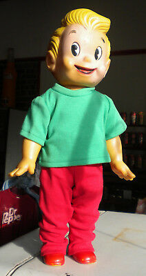 """Original 1961 Squirt Boy Doll Very Rare 18"""" Tall with Promotional Carton Stuffer"""