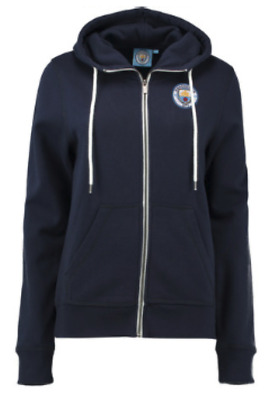 Manchester City Classic Full Zip Hoodie Navy Womens Size 16 rrp £40 LS078 HH 04