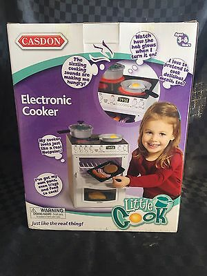 New Casdon Kids Pretend Play Electronic Toy Cooker Stove Oven