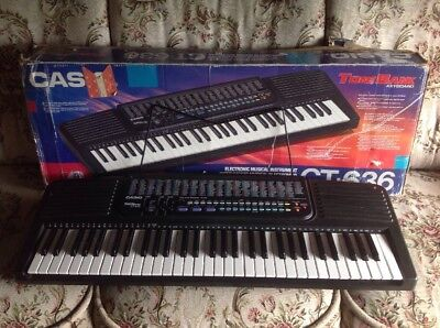 CASIO TONE BANK FULL SIZE KEYBOARD VGC CT-636 Electronic Boxed Powerpack Stand