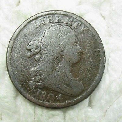 1804  HALF CENT  -  Draped Bust  - VG Coin!