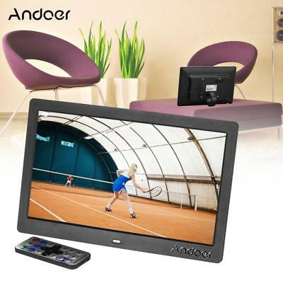 """Andoer 10"""" HD Digital Photo Picture Frame Remote Control Clock MP3/4 Player Y1R8"""