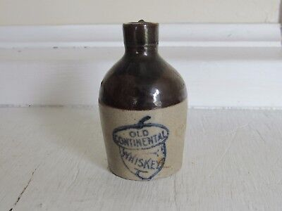 Stoneware Mini Jug Advertising Old Continental Whiskey C-1900