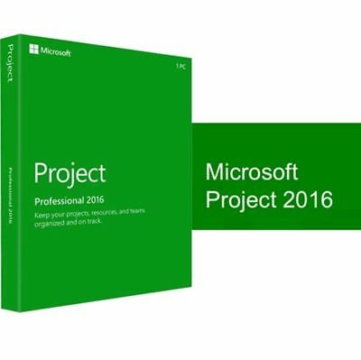 Microsoft Project Professional 2016 Pro Key for 1 PC -  Instant delivery