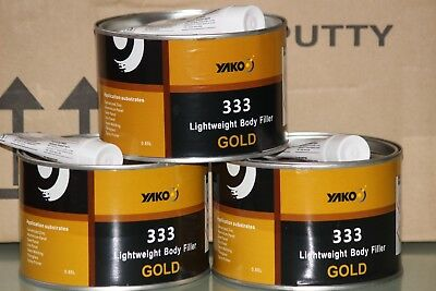 Polyester Auto Car Body Filler 650ml with hardener BOG Nikki Putty Panel Beating
