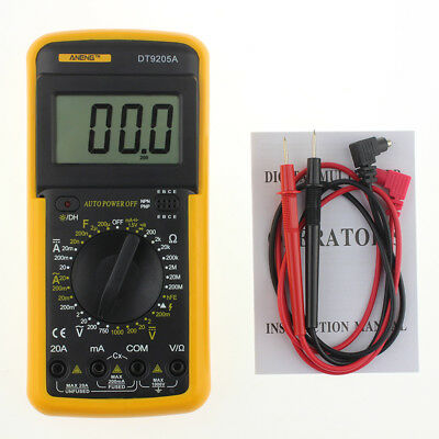 CO_ Mini Digital Multimeter LCD AC/DC Ammeter Resistance Capacitance Tester Qual