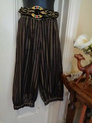 VINTAGE 1970's PANTS(KNICKERBOCKERS) BY WITCHERY BLACK & BRONZE STRIPE