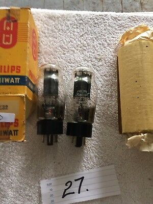 radio valves.  GZ 32 x 2. Philips.