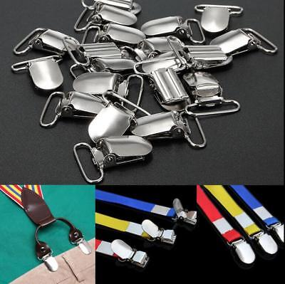 10 Pcs Metal Suspender Clips Pacifier Holder Plastic Insert Ribbon Crafts