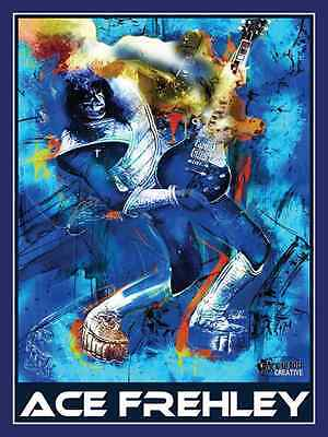 Ace Frehley Guitarist Of Rock Music Band Kiss & Legendary Rock Hero 18X24 Poster