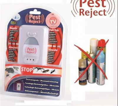 Pest Control Reject Insects Electronic Plug In Repeller Rodent Mouse Mice Ra[