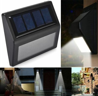 Step Lights Solar 6 LED Deck Garden Stair Outdoor Stainless Steel Wall Pathway