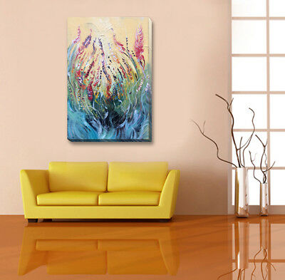 Abstract Stretched Canvas Print Framed Wall Art Hanging Home Office Decor Flower