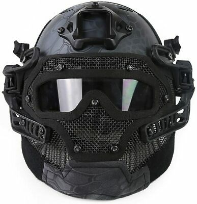 Tactical Protective Goggles G4 System Full Face Mask Helmet Airsoft Paintball GN