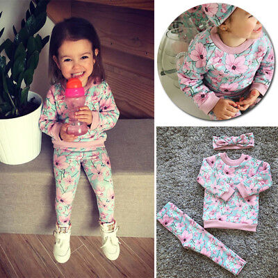Girl Boy Toddler 12M-3T  Baby Tops Pants Clothes Long Sleepwear Set