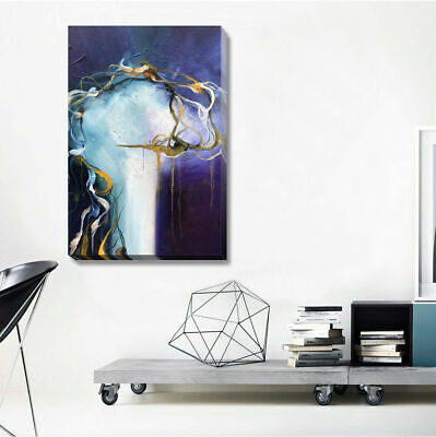 Abstract Stretched Canvas Print Framed Wall Art Restaurant Home Office Decor DIY