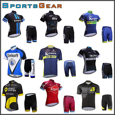 2017 Sport Team Bike Cycling Bike Clothing Short Sleeve Jersey Shorts Kit Trek