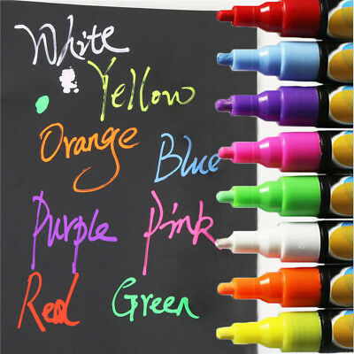 8Color Highlighter Fluorescent Liquid Chalk Marker Pen for LED Writing Board 6mm