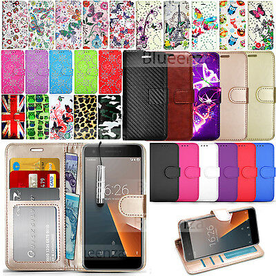 For Vodafone Smart V8 VFD 710 Wallet Leather Case Phone Cover + Screen Protector