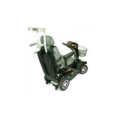 Mobility Scooter Budget Double Crutch Holder - Black
