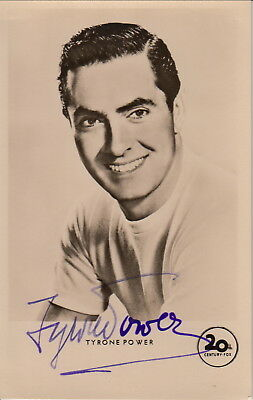 Tyrone Power  original signierte KuB AK der 50er