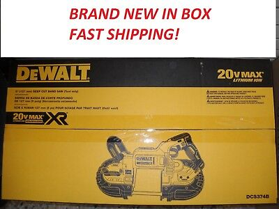 "NEW DEWALT DCS374B 20V MAX 5"" Band Saw Deep Cut XR Cordless Li-Ion New Brushless"
