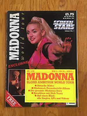 Madonna Screen Stars Vol.1 No. 1 1990 zur Blond Ambition World Tour