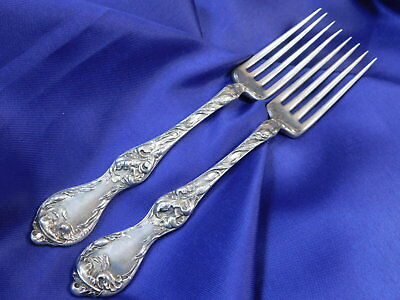 *1* Reed & Barton Les Cinq Fleurs Sterling Silver Place Fork - Good Condition M