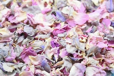 Natural Dried Real Petal Biodegradable Wedding Pale Pink & Grey / Lilac 1 Litre