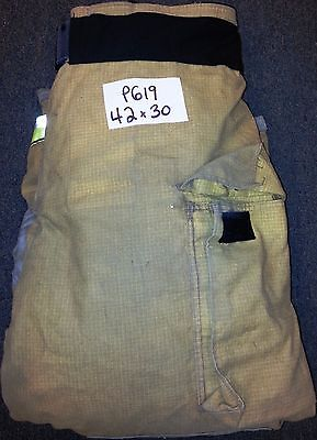 42x30 Pants Firefighter Turnout Bunker Fire Gear w/ Liner Globe Gxtreme P619