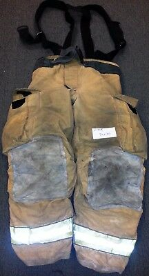 34x30 Pants & Suspenders Firefighter Turnout Bunker Fire Gear Globe Gxtreme P708