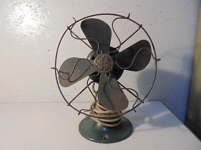 Vintage 1930 GE 8 inch Non-Oscillating Cage Fan Works #27X840