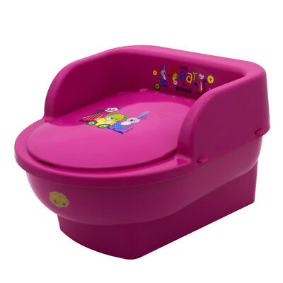 New Little Bear Kids Baby Toddler Throne Potty Training Real mini toilet Pink