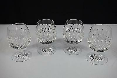 Galway Crystal Glass Brandy Longford Smooth Stem Cut Base - Set Of 4