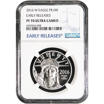 2016-W Proof $100 American Platinum Eagle NGC PF70UC Blue ER Label