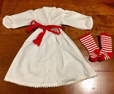 American Girl Kirsten St. Lucia Dress and Socks EXCELLENT Condition