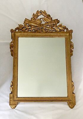 Beautiful Antique Italian Carved Gilt Wood Wall Mirror French Birds Kindel