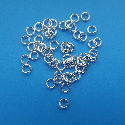 Silver Plated Open Jump Rings Assorted 3mm 4mm 5mm 6mm 7mm 8mm 10mm