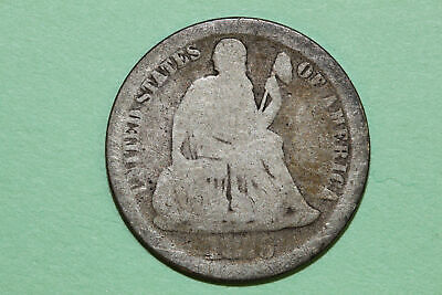 Grades About Good 1875 P Seated Liberty 90% Silver Dime (SLD331)