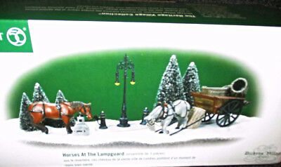 Horses At The Lampguard #56.58531 Dept 56 Dickens Heritage Village Horse Hitch