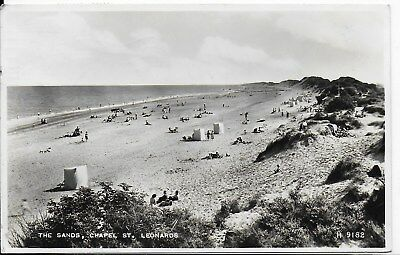 Lovely Old Vintage Postcard,the Sands,chapel St,st Leonards-On-Sea,rp,1955