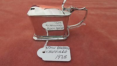 A Superb Art Deco  Solid Silver Mustard Pot by Atkin Brothers HM Sheffield 1938