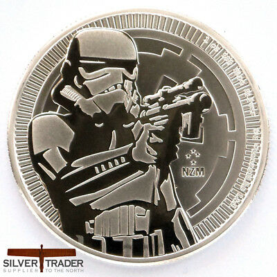 2018 1oz Stormtrooper Silver Star Wars 1 ounce Silver Bullion Coin unc: