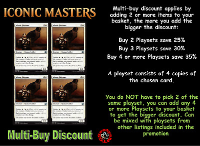 MTG Iconic Masters IMA Choose your uncommon playset (x 4 cards) - New - In stock