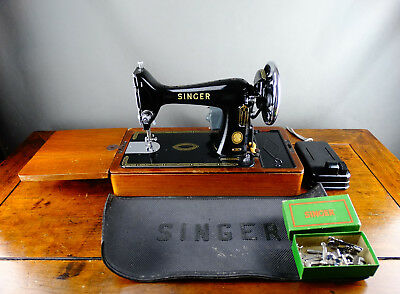 Singer 99K Electric Sewing Machine Portable with Foot Pedal Accessories & Case